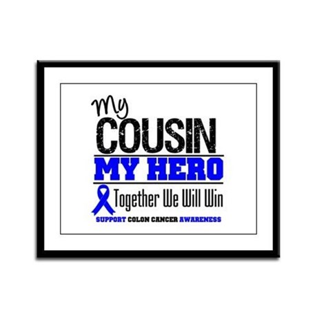 ColonCancerHero Cousin Framed Panel Print