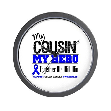 ColonCancerHero Cousin Wall Clock