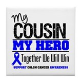 ColonCancerHero Cousin Tile Coaster
