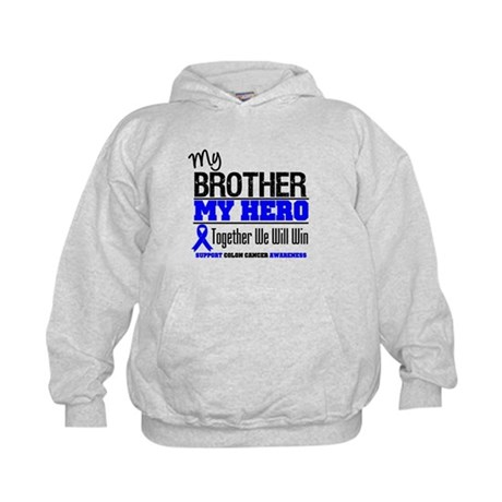 ColonCancerHero Brother Kids Hoodie