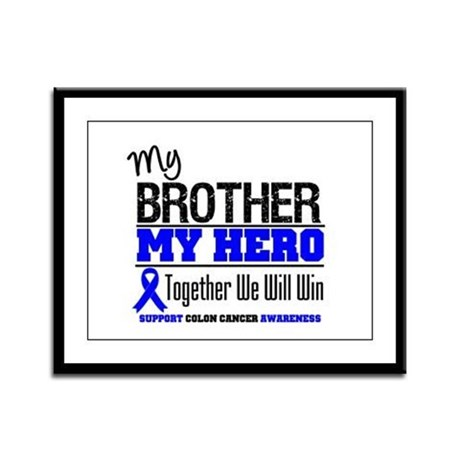 ColonCancerHero Brother Framed Panel Print