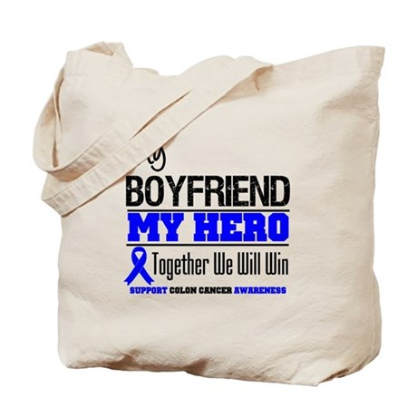 ColonCancerHero Boyfriend Tote Bag