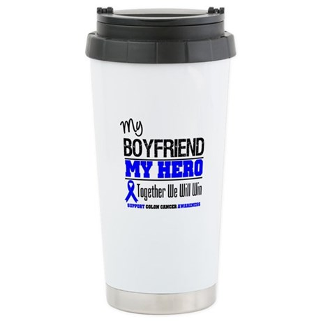 ColonCancerHero Boyfriend Ceramic Travel Mug
