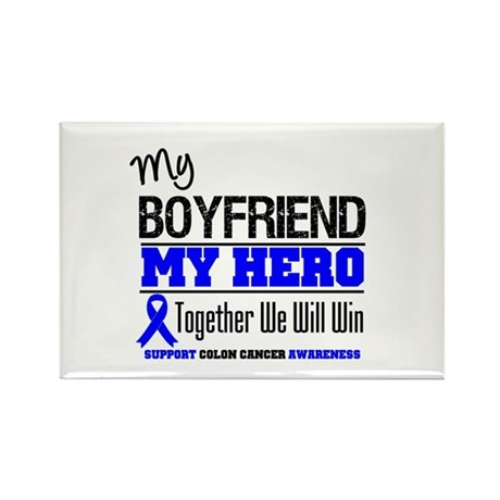 ColonCancerHero Boyfriend Rectangle Magnet