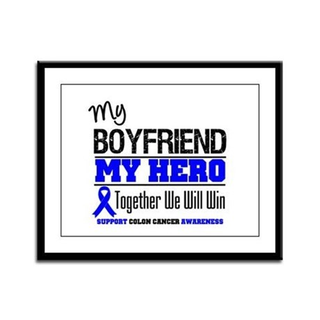 ColonCancerHero Boyfriend Framed Panel Print