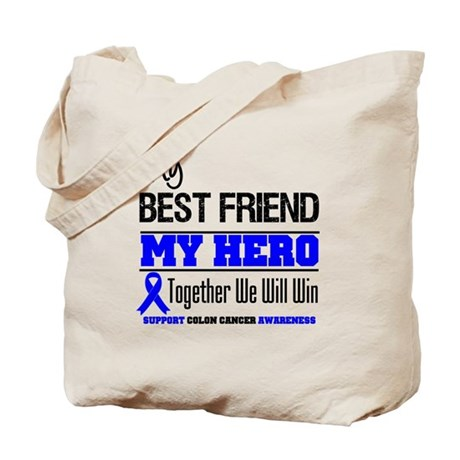 ColonCancerHero BestFriend Tote Bag