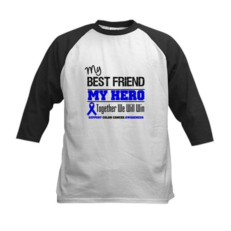 ColonCancerHero BestFriend Kids Baseball Jersey