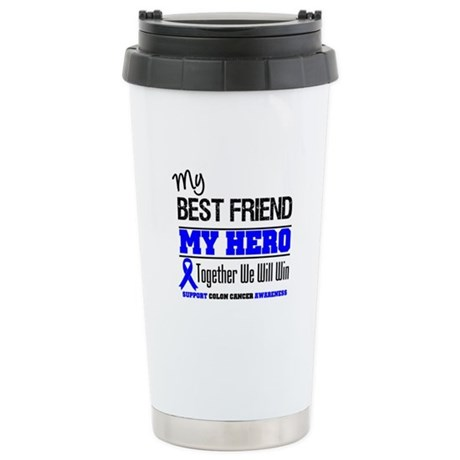 ColonCancerHero BestFriend Ceramic Travel Mug