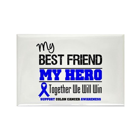 ColonCancerHero BestFriend Rectangle Magnet