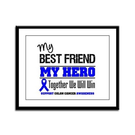 ColonCancerHero BestFriend Framed Panel Print