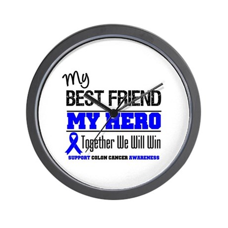 ColonCancerHero BestFriend Wall Clock