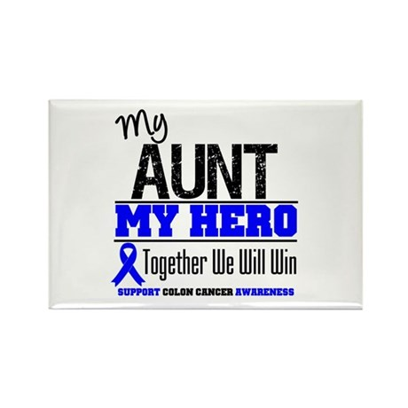 ColonCancerHero Aunt Rectangle Magnet