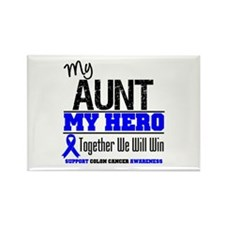 ColonCancerHero Aunt Rectangle Magnet (10 pack)