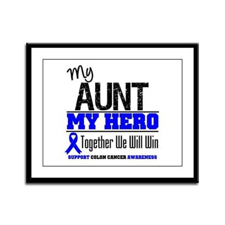 ColonCancerHero Aunt Framed Panel Print