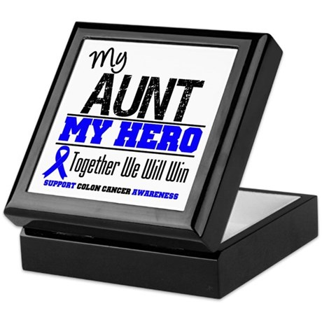 ColonCancerHero Aunt Keepsake Box