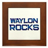waylon rocks Framed Tile