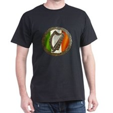 Irish Harp and Flag T-Shirt
