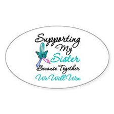 Thyroid Cancer Sister Oval Sticker (50 pk)