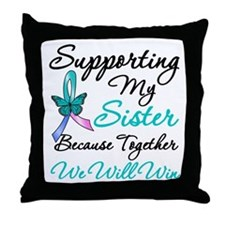 Thyroid Cancer Sister Throw Pillow