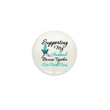 Thyroid Cancer Husband Mini Button (100 pack)