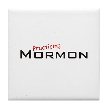 Practicing Mormon Tile Coaster