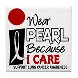 I Wear Pearl Because I Care 9 Tile Coaster