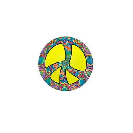 Peace Symbol Mini Button