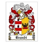 Brandt Coat of Arms Small Poster