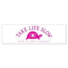TLS Pink Turtle, Bumper Bumper Sticker