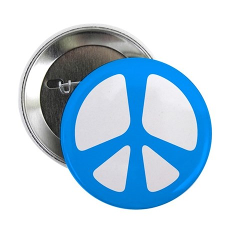 Peace Symbol Button