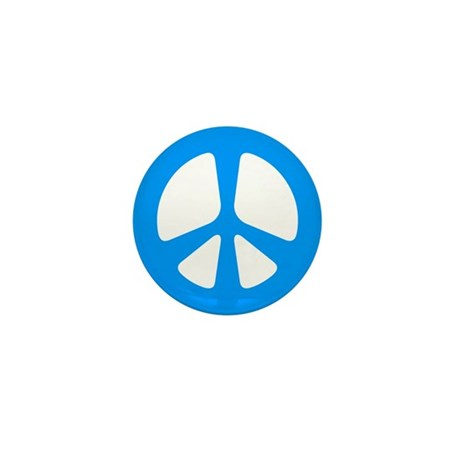Peace Symbol Mini Button (10 pack)