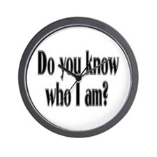Do You Know Who I Am? Wall Clock