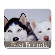 Cute Huskies Mousepad