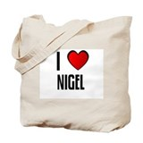 I LOVE NIGEL Tote Bag
