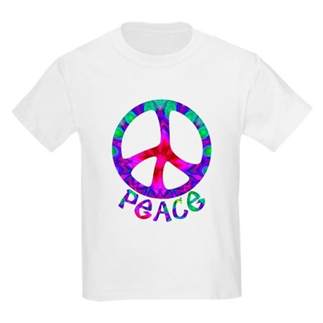 Flowery Peace Symbol Kids Light T-Shirt