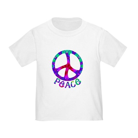 Flowery Peace Symbol Toddler T-Shirt