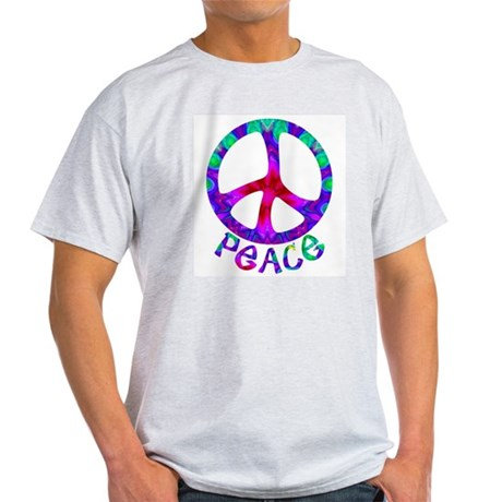 Flowery Peace Symbol Light T-Shirt