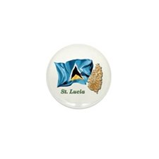 St. Lucia Mini Button (10 pack)