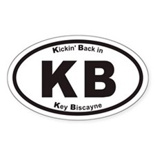 Kickin Back In Key Biscayne KB Euro Oval Decal