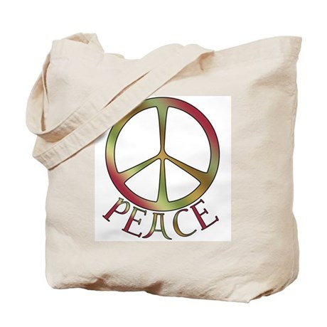 Earth Toned Peace Tote Bag