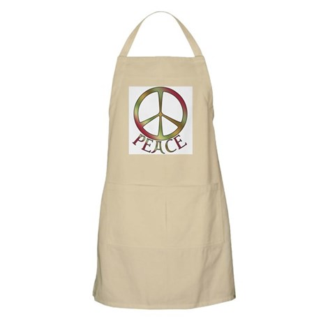 Earth Toned Peace BBQ Apron