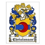 Christensen Coat of Arms Small Poster