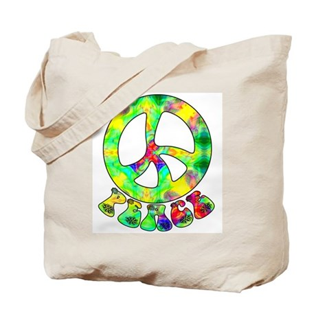 Flower Child Peace Tote Bag