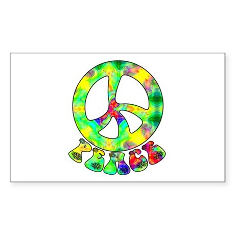 Flower Child Peace Rectangle Sticker