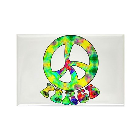 Flower Child Peace Rectangle Magnet