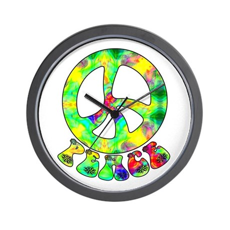 Flower Child Peace Wall Clock