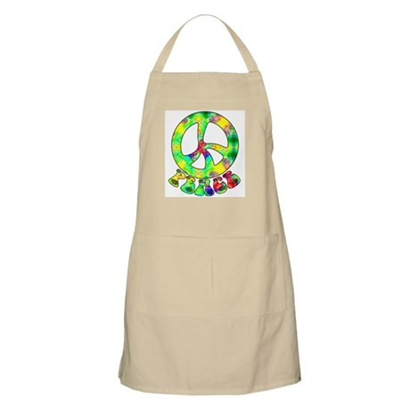 Flower Child Peace BBQ Apron