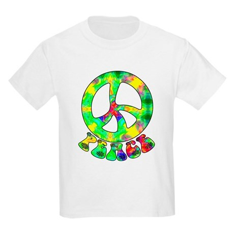 Flower Child Peace Kids Light T-Shirt