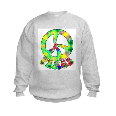 Flower Child Peace Kids Sweatshirt