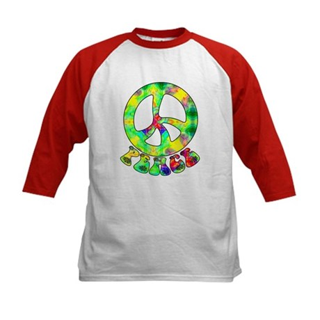 Flower Child Peace Kids Baseball Jersey